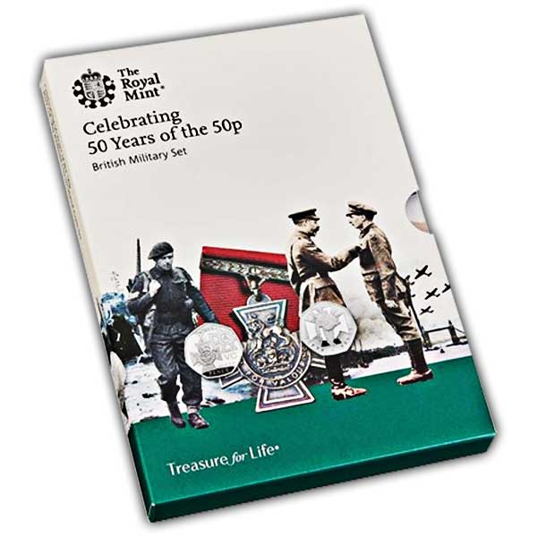 50 years of the 50p - Brilliant Uncirculated Coin Set - Military