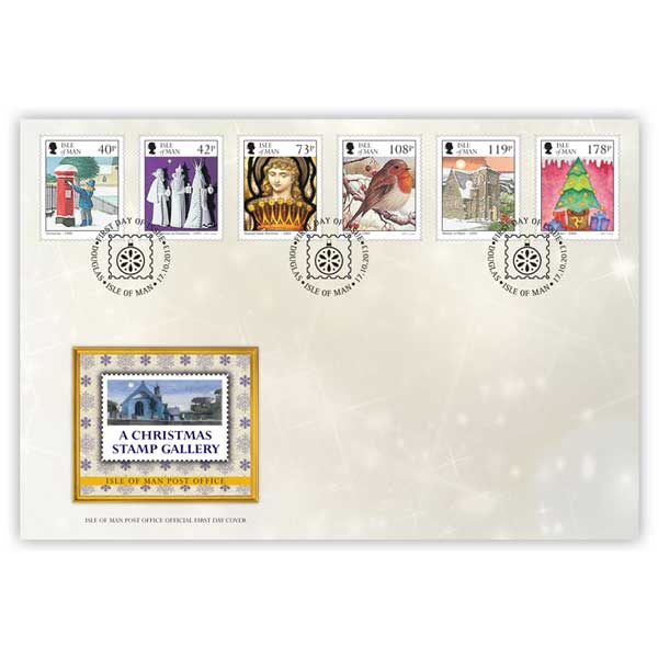 A Christmas Stamp Gallery First Day Cover
