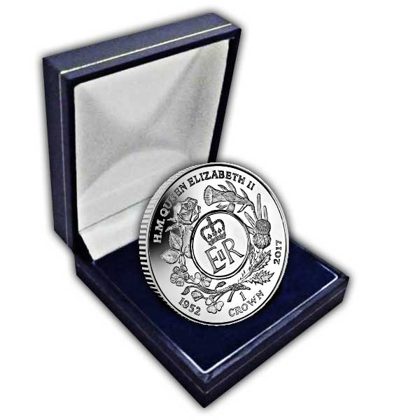 The 2017 Queen's Sapphire Jubilee Royal Cypher Cupro Nickel Coin