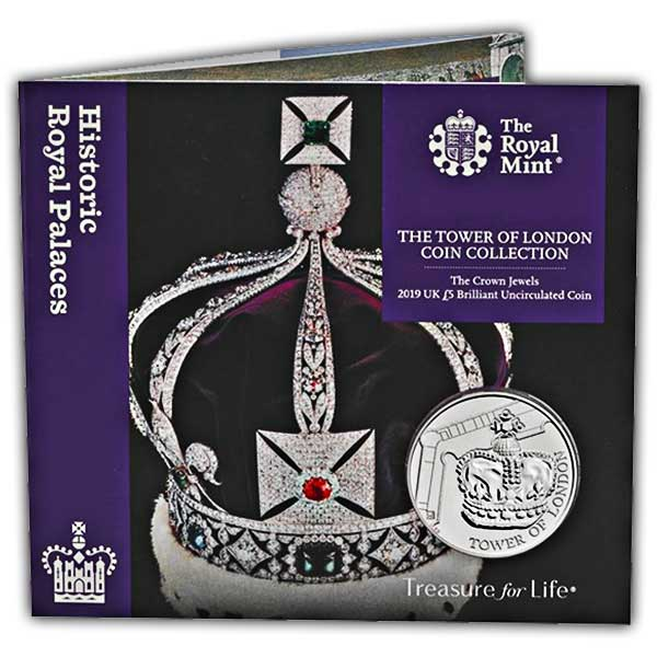 Crown Jewels 2019 UK £5 Brilliant Uncirculated Coin