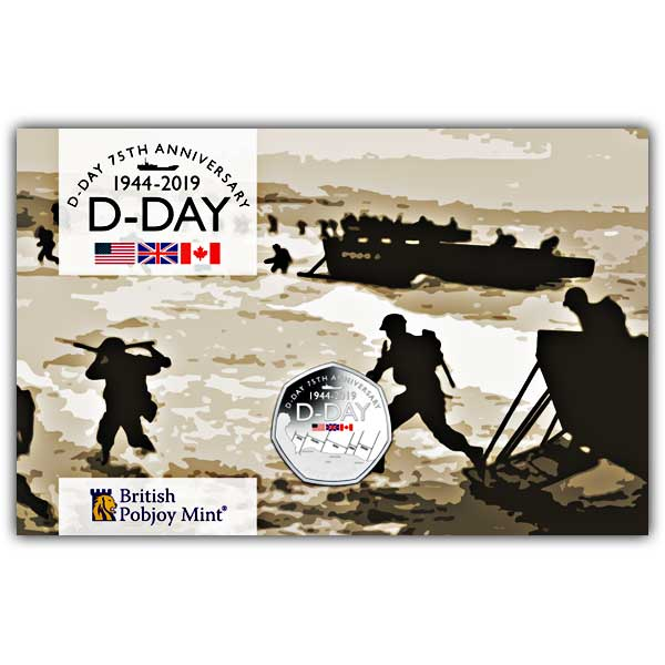 D-Day 75 Anniversary 2019 Cupro Nickel 50p Coin Pack