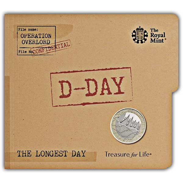 D-Day UK £2 Brilliant Uncirculated Coin