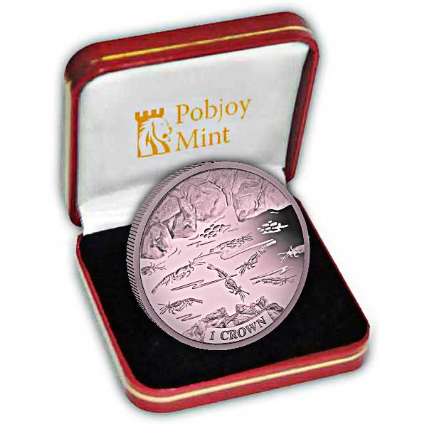 The Shrimp 2018 Dusky Pink Titanium Coin