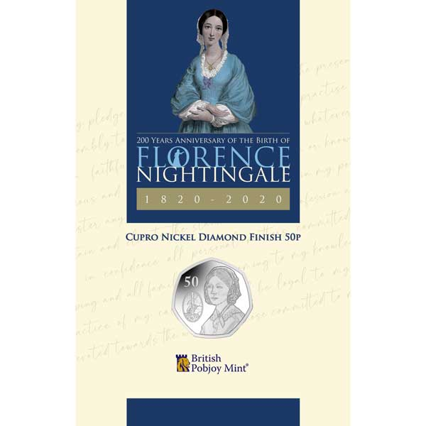 Florence Nightingale 2020 50p Cupro Nickel Coin