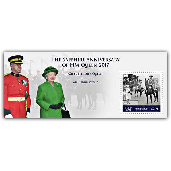 The Sapphire Anniversary of HM Queen - Gifts fit for a Queen Miniature Sheet (CTO)