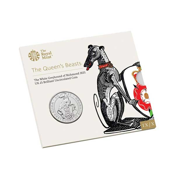 The Greyhound of Richmond 2021 UK £5 Brilliant Uncirculated Coin