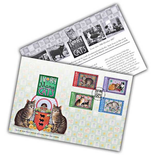 Ivory Manx Cats First Day Cover