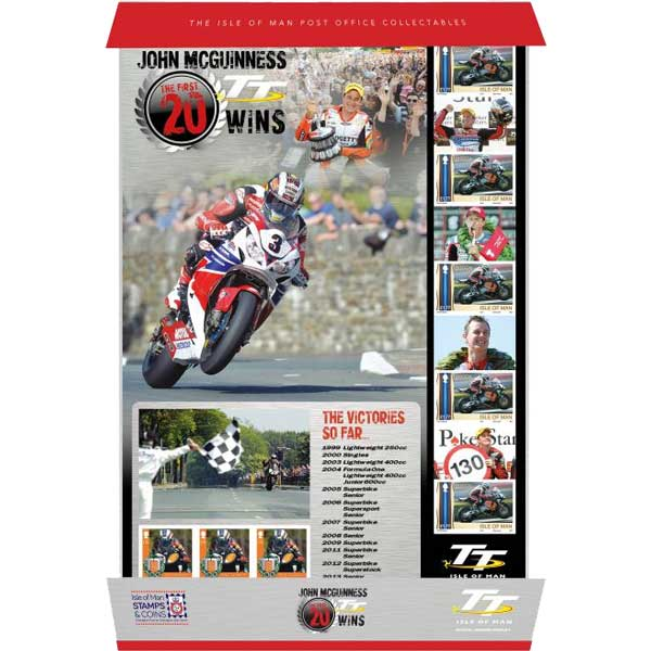 John McGuinness  The First 20 TT Wins Mint Smiler Sheet