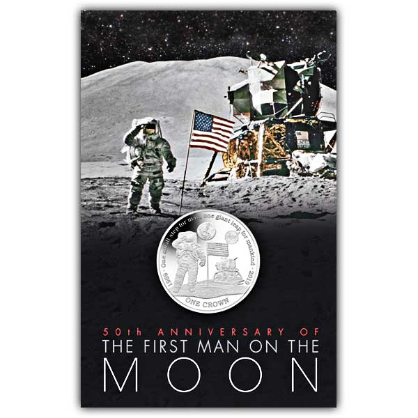 First Man on The Moon 2019 Cupro Nickel Coin in Pack