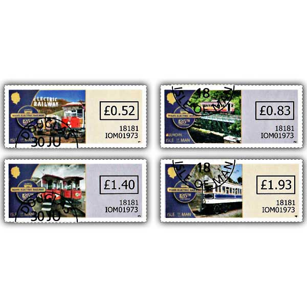 Manx Electric Railway 125th Anniversary Variable Value Definitives (CTO)
