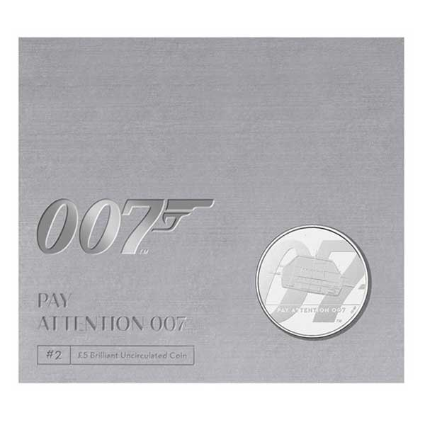 Pay Attention 007 2020 UK £5 Brilliant Uncirculated Coin