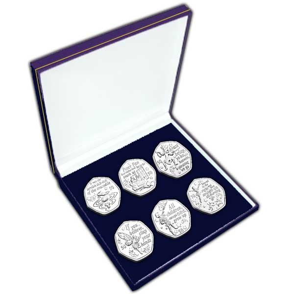 Peter Pan 2019 50p Coin Set in a box