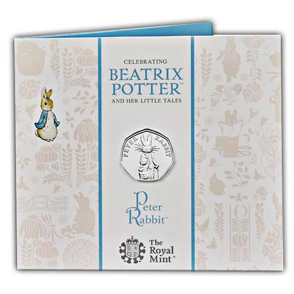 Peter Rabbit 2019 UK 50p Brilliant Uncirculated Coin