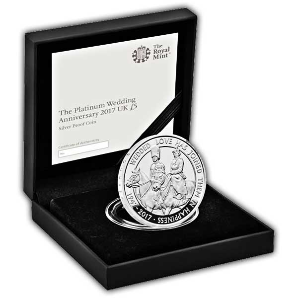 Platinum Wedding 2017 UK £5 Silver Proof Coin