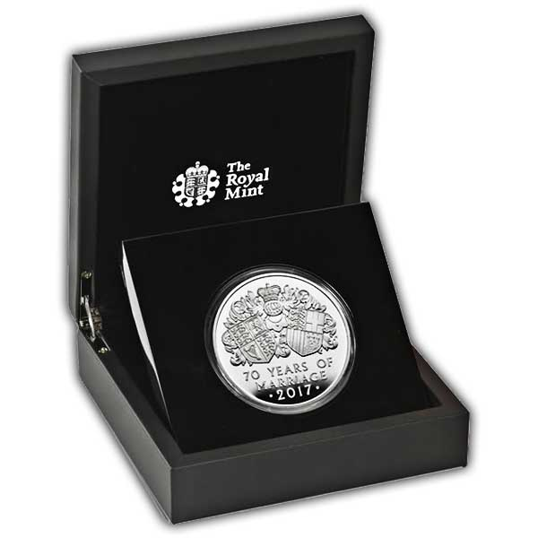 Platinum Wedding 2017 UK Five-Ounce Silver Proof Coin