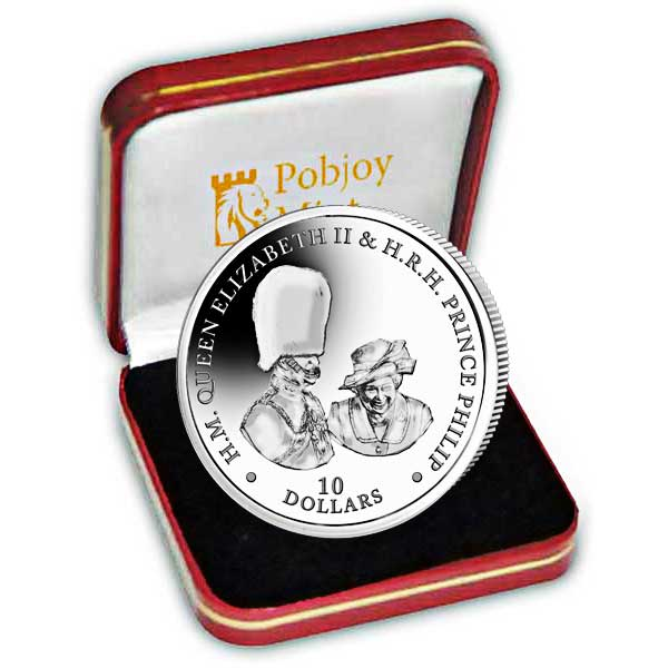 Platinum Wedding Anniversary ''Buckingham Palace'' 2017 Silver Coin