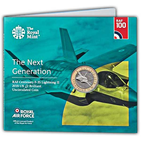 RAF Centenary Lightning II 2018 UK £2 Brilliant Uncirculated Coin
