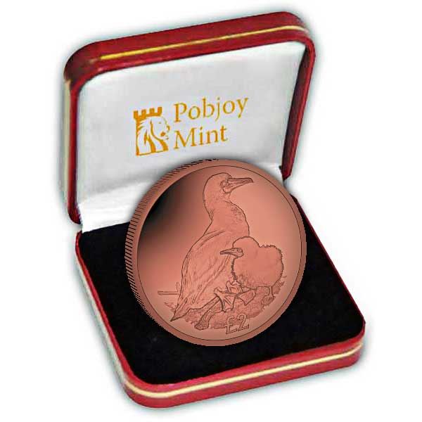 The 2019 Red-Footed Booby Red Titanium Coin