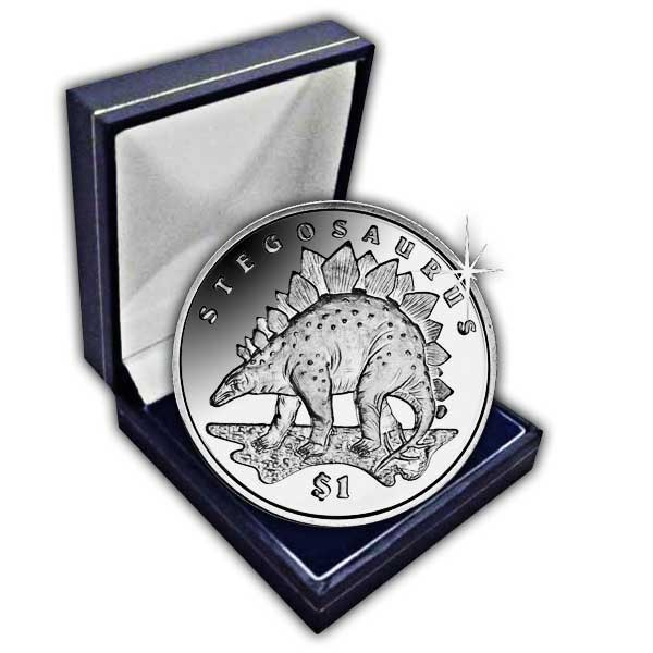 Sierra Leone 2006 Lost World of the Dinosaurs Stegosaurus Uncirculated Cupro Nickel Coin