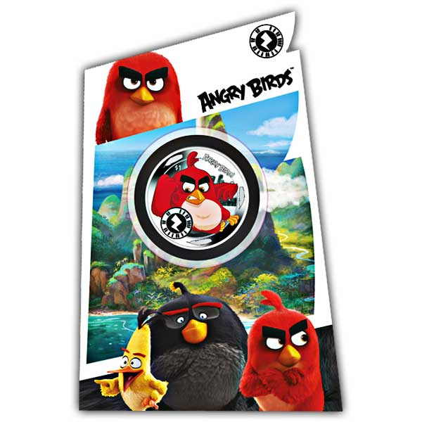 Angry Birds: Red 2018 Worlds First Interactive Unc. Coloured Cupro Nickel Coin in a Pack