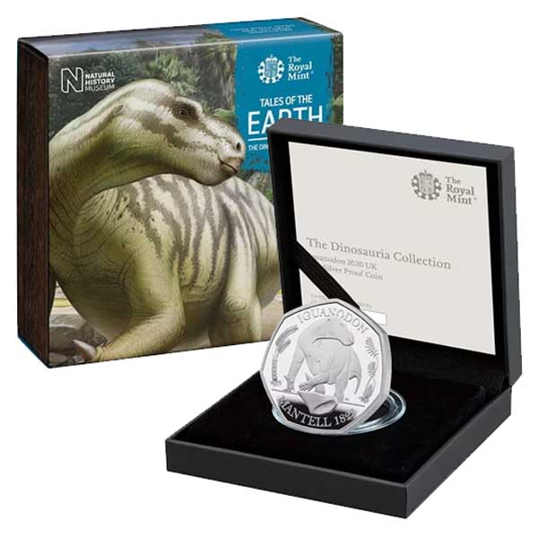 Iguanodon 2020 UK Silver Proof 50p Coin