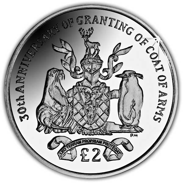 The 2015 30th Anniversary of the Granting of the Coat of Arms Cupro Nickel Coin
