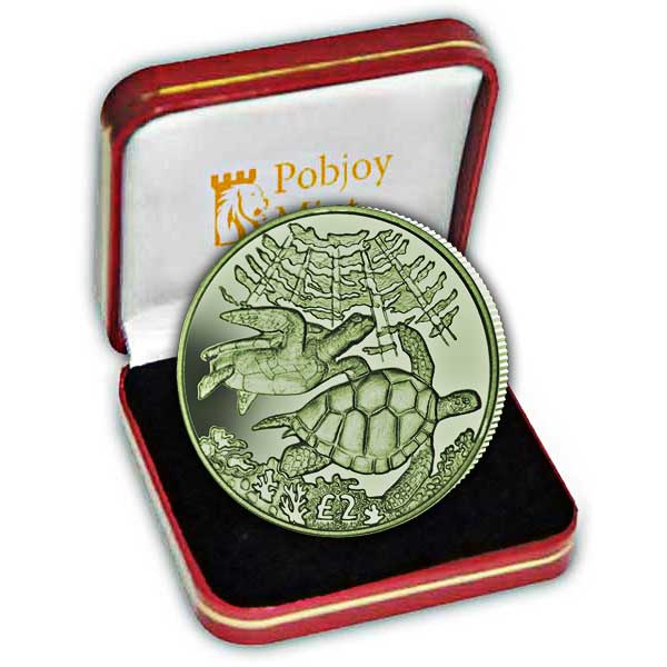 The 2017 Pacific Green Turtle Green Titanium Coin