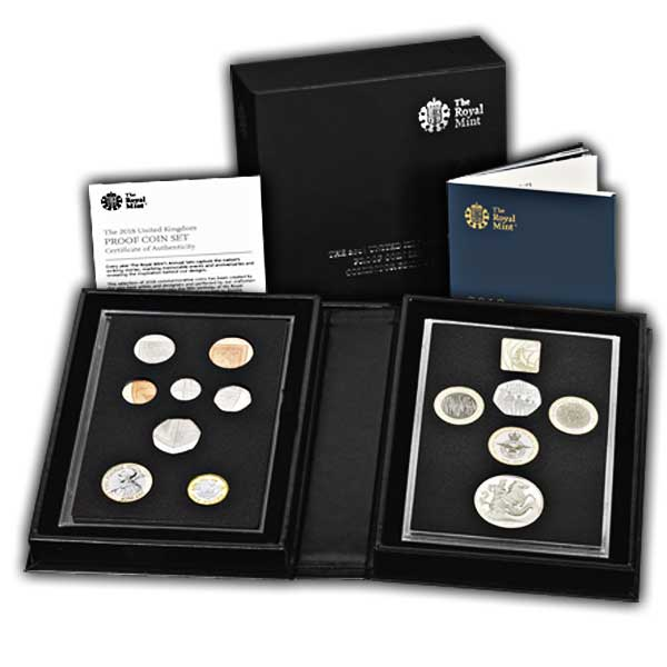 The 2018 United Kingdom Proof Coin Set