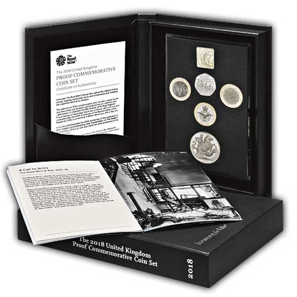 The 2018 United Kingdom Proof Commemorative Coin Set