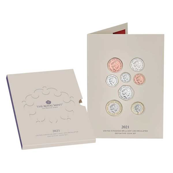 The 2021 United Kingdom Brilliant Uncirculated Definitive Coin Set