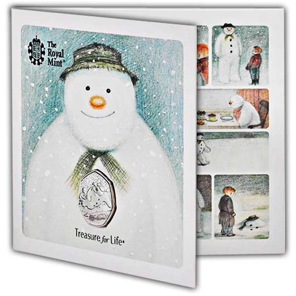 The 40th Anniversary of The Snowman 50p BU Coin