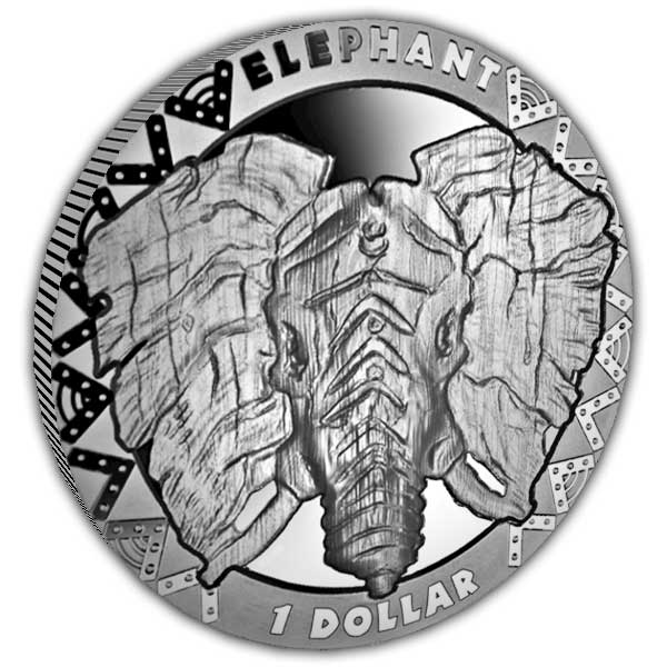 The Big Five 2019 The Elephant Cupro Nickel Coin