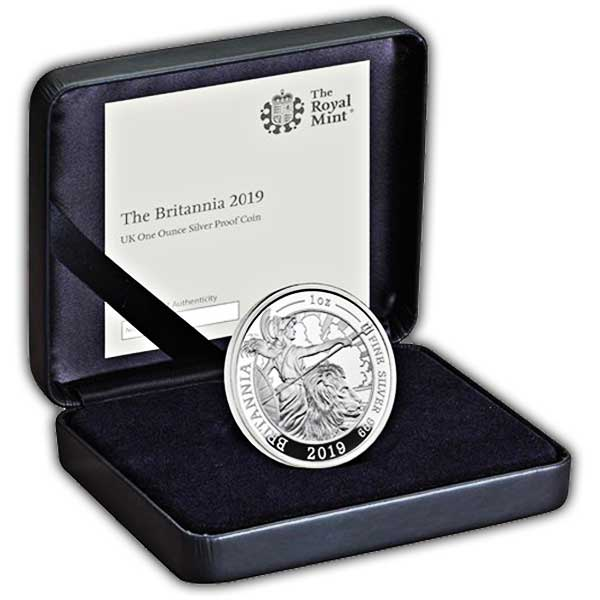 The Britannia 2019 UK One Ounce Silver Proof Coin