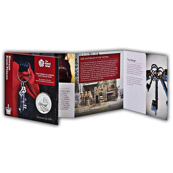 The Ceremony of the Keys 2019 UK £5 Brilliant Uncirculated Coin