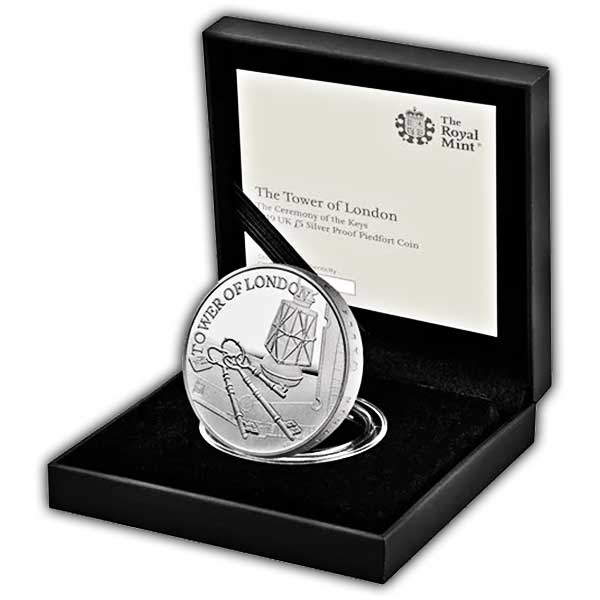 The Ceremony of the Keys 2019 UK £5 Silver Proof Piedfort Coin