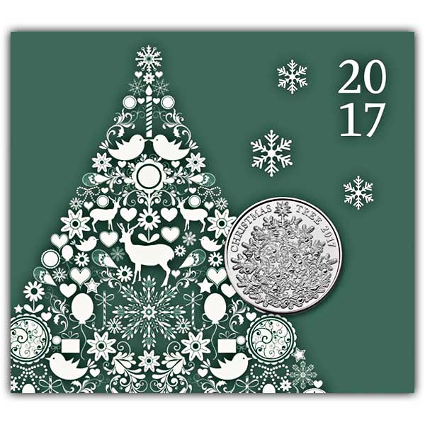 The Christmas Tree 2017 UK £5 Brilliant Uncirculated Coin