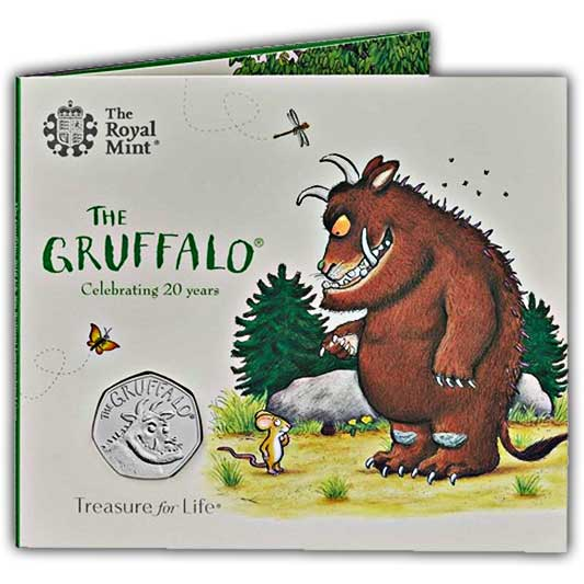 The Gruffalo 2019 UK 50p Brilliant Uncirculated Coin