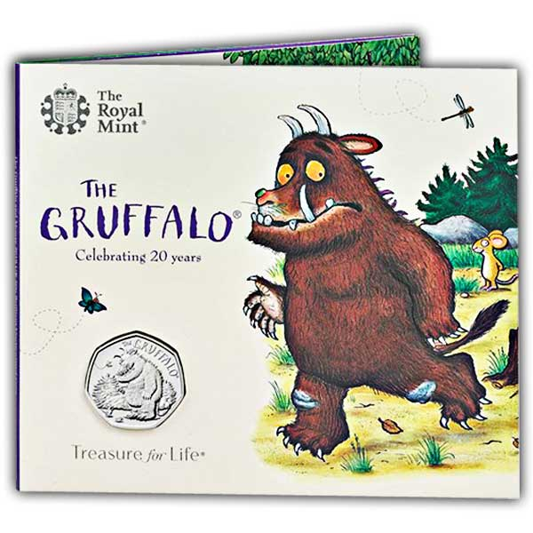The Gruffalo and Mouse 2019 UK 50p Brilliant Uncirculated Coin