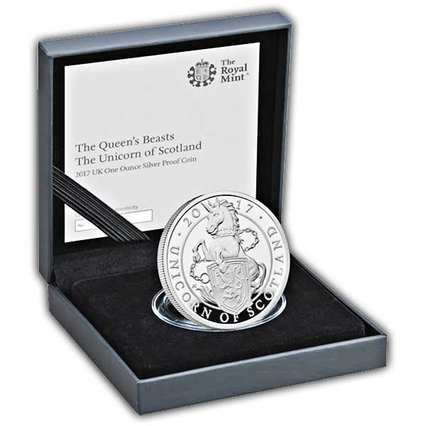 The Unicorn of Scotland 2017 UK Silver Proof One Ounce Coin