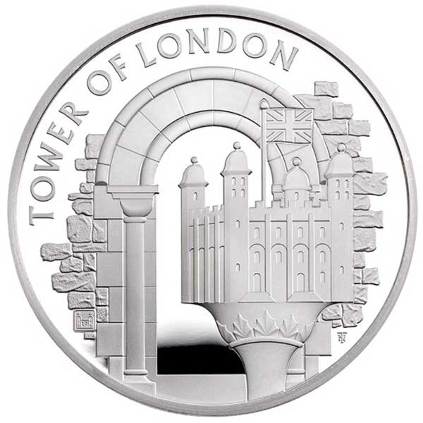 The White Tower 2020 UK £5 Silver Proof Coin
