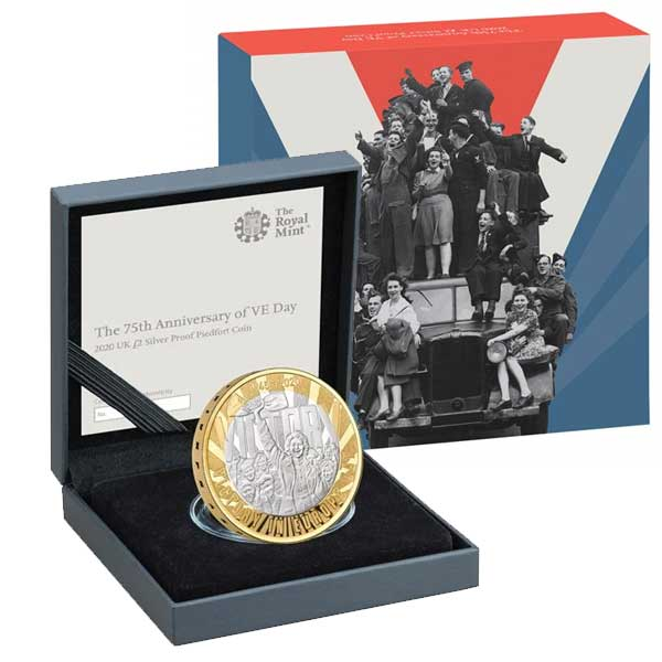 VE Day 2020 UK £2 Piedfort Silver Proof Coin