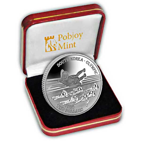 The South Korea 2017 Winter Olympics Ice Sports Silver Coin