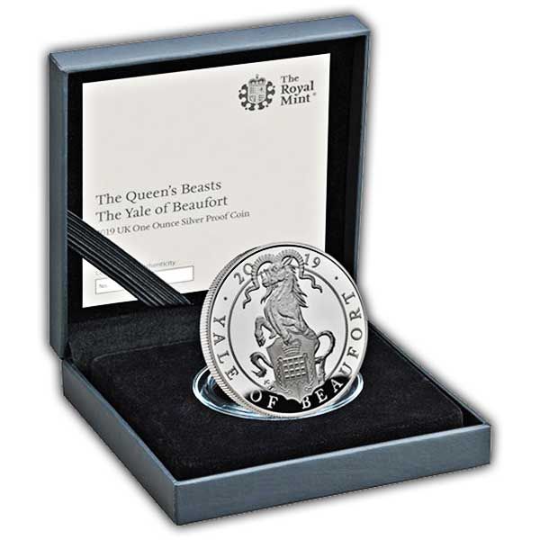 The Queen's Beasts The Yale of Beaufort 2019 UK One Ounce Silver Proof Coin