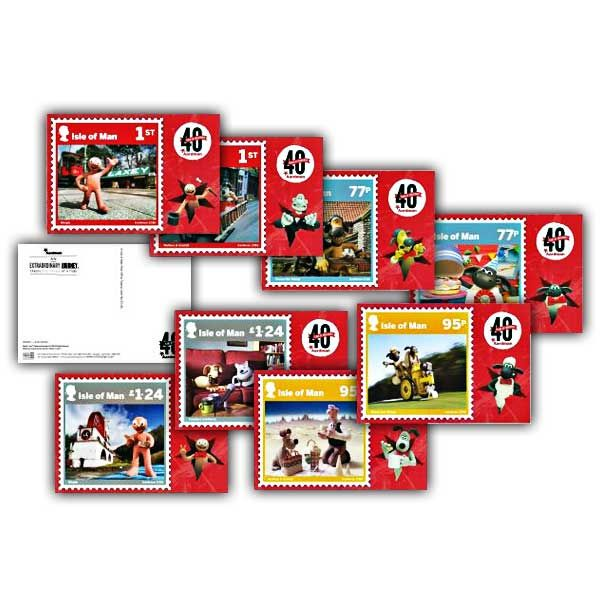 Aardman 40 Years of Creativity Stampcard Set