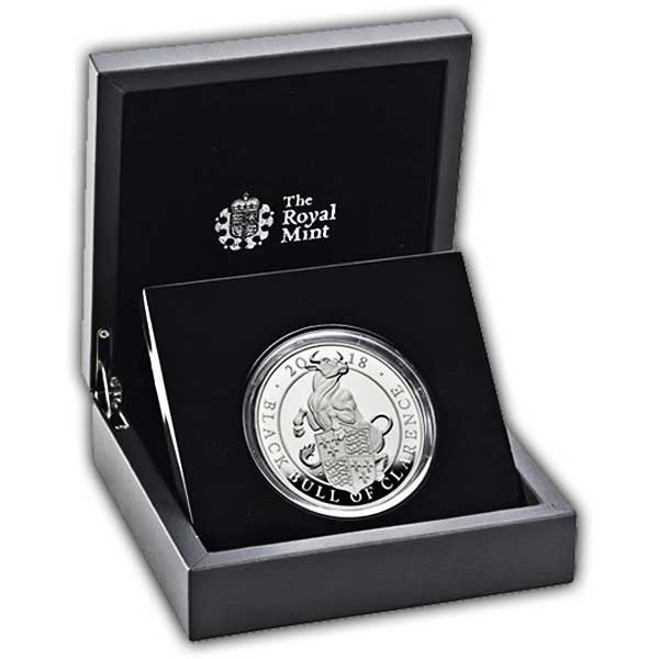 The Black Bull of Clarence 2018 UK Five-Ounce Silver Proof Coin