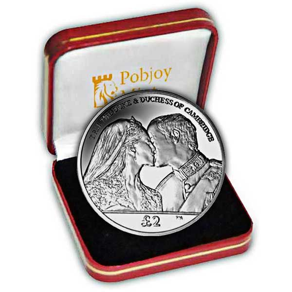 The 2012 Duke and Duchess of Cambridge Wedding Anniversary Silver Coin