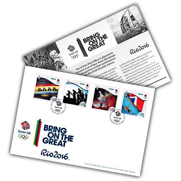Team GB Rio 2016 Olympics First Day Cover