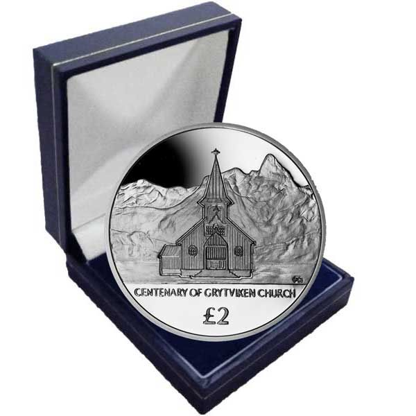 The 2013 Centenary of the Grytviken Church Cupro Nickel Coin