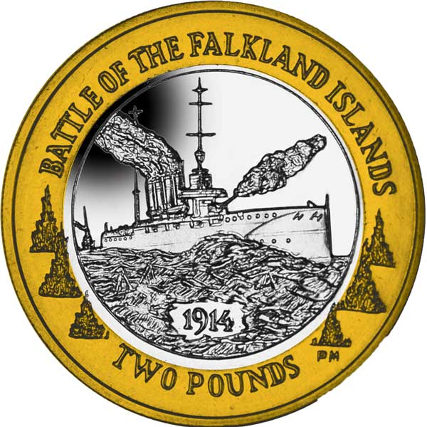 The 2014 Centenary of the Battle of Falkland £2 Bi-Metal Coin