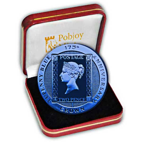 The 2015 175th Anniversary of the Two Pence Blue Stamp Silver Coin